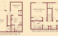 The 2 bedroom 1/2 bath Townhome