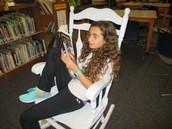 Enjoying reading time
