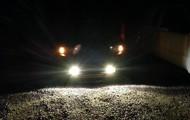 My car at night.