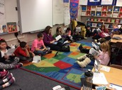 Reading about the 1st Thanksgiving in Ms. Smith's class.