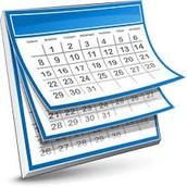 2nd Marking Period Timeline . . .