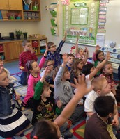 Engaged in a Dr. Seuss guessing game