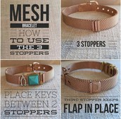 How to work a mesh bracelet!