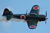 Japanese Mitsubishi A6M Zero fighter plane