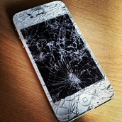 I-phone breaking into pieces