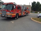 Crozet Fire Truck for The Pep Rally
