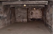 A gas chamber in Auschwitz