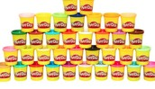 All the colors of Play Doh