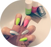 Neon and sparkle stilettos
