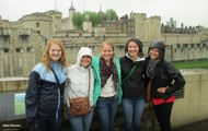 In front of the Tower Of London