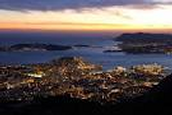 Sun set in Toulon