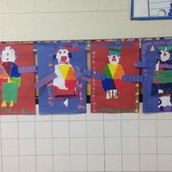 Heidi Bogan's student artwork brightens our hallways