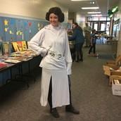 Mrs. Heilkema Celebrating Reading Night!