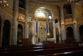 Inside the Modena Jewish Temple in Italy