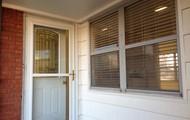 Beautiful cut glass front door
