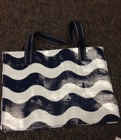 Department Store Bags Set Of 2 $19 (Wave/Geo Navy Dots Inside)