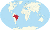 Here's the world the bit in red is brazil