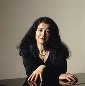 Martha Argerich Posing For a Picture