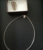 Helen of Troy ring , silver choker