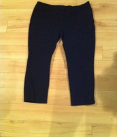 10. Rickis Cropped Dress Pants, Zipper front with Slit pockets