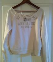 35. Aerie XL Sweatshirt, Unfinished Hem at Neckline