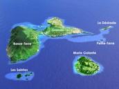 La superficie en Guadeloupe
