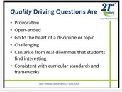 What are the characteristics of a Driving Question?