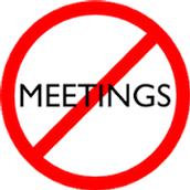 No Meetings 2.24.16 - 3.1.16