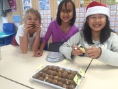 Making edible snow balls in 5S
