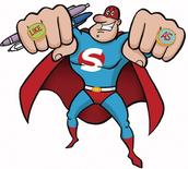 Super man similes