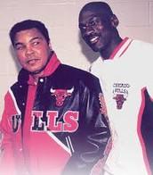 Michael Jordan and Muhammad Ali