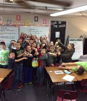 Miss Heller's class collected another tub of pop tabs!