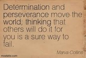 Determination and Preserverance