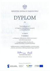"""Drugie miejsce w konkursie ogólnopolskim """"Lider Edukacji Zawodowej""""!"""