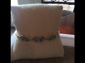 Turquoise Stone Cuff-- $24.50