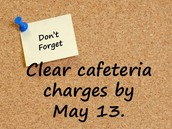 Message about Cafeteria Charges