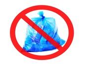 No paper in plastic bags.