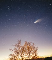 Comets can be seen anywhere