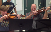 Mr. Comalander Jams with the Bush Orchestra
