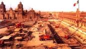 Se emprendió la obra del metro en la ciudad de México
