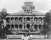U.S Troops at Iolani Palace