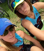 Coaches Lisa 'trixie' Taylor and Maria Williams.