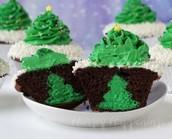 Chistmas tree cupcake