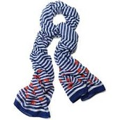 Palm Springs Scarf - Navy Stripe - SOLD