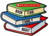 September 23 5:30-7:30 Family Book Fair and Ice Cream Social Night