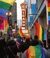 Gay Marriage March- Downtown Chicago
