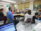 Mentors and Mentees meeting after school