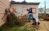 CAS construyó techo en Fe y Esperanza