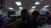 Martin and Matthew having some fun in math