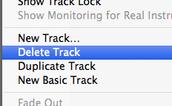 """Hit """"delete track"""""""